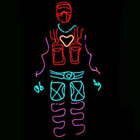 preiswerte Haus & Garten-1 set LED-Kleidung / LED-Hut Dreifarbig AA-Batterien angetrieben Cool 12 V