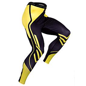 cheap Men's Activewear-JACK CORDEE Men's Sports Underwear Running Tights Leggings Tights Leggings Elastane Winter Fitness Gym Workout Basketball Running Quick Dry Sport Black / Red White Black Red Yellow Blue