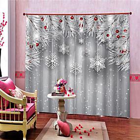 preiswerte 3D Vorhänge-Weihnachten Privatsphäre zwei Panele Vorhang