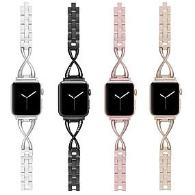 billige Smartwatch Bands-klokkebånd for epleklokke serie 5/4/3/2/1 eple smykkedesign armbåndstropp i rustfritt stål