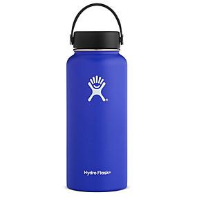 cheap Drinkware-Flask Standard Mouth Water Bottle, Flex Cap - Multiple Colors