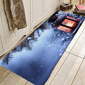 preiswerte Weihnachten-1pc moderne Badematten / Badteppiche Coral Velve geometrische / abstrakte 5mm Badezimmer neues Design