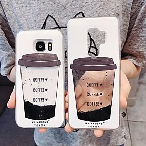 povoljno Maske za mobitele-Θήκη Za Samsung Galaxy S9 / S9 Plus / S8 Plus S tekućinom / Uzorak / Šljokice Stražnja maska Hrana TPU