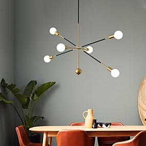 cheap Chandeliers-6-Light 90 cm Chandelier Pendant Lights Metal Sputnik Industrial Painted Finishes Modern Nordic Style 110-120V 220-240V