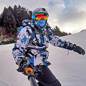 preiswerte Sport & Outdoor-MUTUSNOW Herrn Skijacken & Hosen Windundurchlässig Warm wasserdicht Skifahren Wandern Mehrere Sportarten Polyester 100% Baumwolle Sportkleidung Skikleidung / Winter
