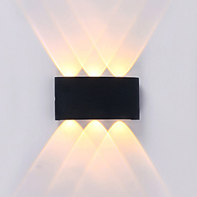 cheap Outdoor Wall Lights-Waterproof Simple Modern Contemporary Outdoor Wall Lights Outdoor Lights Study Room Office Indoor Aluminum Wall Light IP65 220-240V