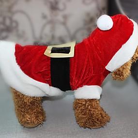 preiswerte Sport & Hobbys-Hunde Katzen Haustiere Kostüme Overall Winter Hundekleidung Rot Kostüm Polyester Weihnachten Weihnachten XXS XS S M L