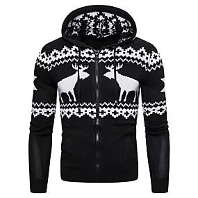 preiswerte Pullover-Herrn Tier Langarm EU- / US-Größe Strickjacke Pullover Jumper, Mit Kapuze Winter Schwarz / Rote / Marineblau US32 / UK32 / EU40 / US34 / UK34 / EU42 / US36 / UK36 / EU44