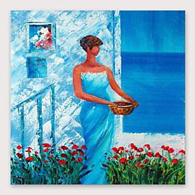 povoljno Nova kolekcija-Hang oslikana uljanim bojama Ručno oslikana - Sažetak Ljudi Moderna Uključi Unutarnji okvir