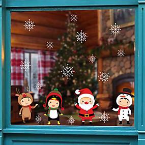 preiswerte Dekoration für Zuhause-Weihnachtsnetter Karikaturfensterfilm& ampampamp aufkleber dekoration tier / gemusterte urlaub / charakter / geometrische fensteraufkleber aus pvc (polyvinylchlorid)