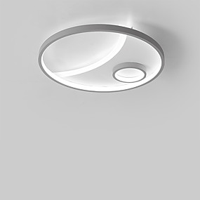 cheap Dimmable Ceiling Lights-1-Light 42 cm Flush Mount Lights Metal Linear Painted Finishes Contemporary LED 110-120V 220-240V