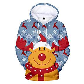 preiswerte Sweatshirts-Damen Übergrössen Freizeit / Weihnachten Kapuzenshirt Geometrisch / 3D