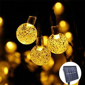 preiswerte Haus & Garten-1 stücke 30 led 5 mt kristallkugel led solar lampenleistung led string lichterketten solar girlanden garten weihnachtsdekor für outdoor