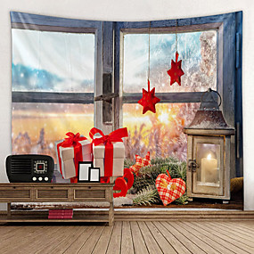 cheap Christmas Wall Decor-Classic Theme Wall Decor 100% Polyester Classic / Modern Wall Art, Wall Tapestries Decoration