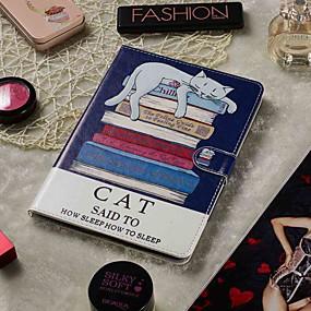 povoljno Maske za mobitele-podesivi etui za jabuke / samsung galaxy / huawei / sony xperi / acer / asus / amazon / lenovo univerzalni novčanik / držač za karticu / s postoljem futrole za cijelo tijelo knjiga mačka pu koža