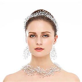 povoljno Nakit za vjenčanje i izlaske-Žene Šeširi Okrugle naušnice Ogrlica Geometrijski blažen Europska Naušnice Jewelry Srebro Za Vjenčanje 1set