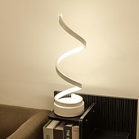 povoljno Stil rasvjete-spiralno zakrivljena led stolna svjetiljka suvremena minimalistička rasvjeta dizajn akrilni materijal savršen ceative dizajn za spavaću sobu dnevni boravak zlatno bijeli