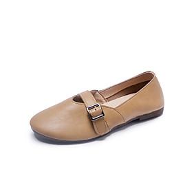 voordelige Damesschoenen met platte hak-Dames Platte schoenen Platte hak Ronde Teen PU Informeel Herfst Zwart / Wit / Geel