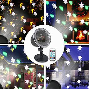 preiswerte Scheinwerfer-led projektionslampe weihnachtsfeier thema serie fernbedienung urlaub atmosphäre beleuchtung 4modes schneeflocken glocken elch