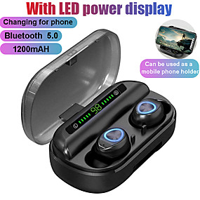 cheap Computer & Office-LITBest TWS Bluetooth Earphone With Microphone LED Display Wireless Bluetooth Headphones Earphones Waterproof Noise Cancelling Headsets