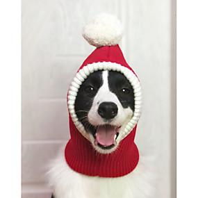 preiswerte Sport & Hobbys-Hunde Kostüme Bandanas & Mützen Winter Hundekleidung Rot Weihnachten Kostüm Großer Hund Polyester Weihnachten Cosplay XS S M L XL