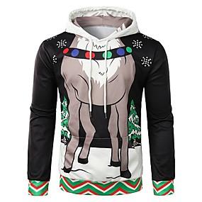 preiswerte Sweatshirts-Herrn Weihnachten Mit Kapuze Kapuzenshirt Cartoon Design