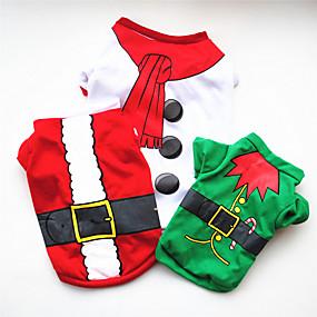 preiswerte Sport & Hobbys-Hunde Pullover Hundekleidung Weiß Grün Rot Kostüm Mops Pudel Chihuahua Baumwolle Cartoon Design Cosplay Weihnachten XS S M L