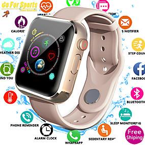preiswerte Smartwatch-Uhr Smartwatch digital Moderner Stil Sportlich Stilvoll Silikon 30 m Wasserdicht Herzschlagmonitor Bluetooth digital Freizeit Draußen Schwarz Weiß Rosa