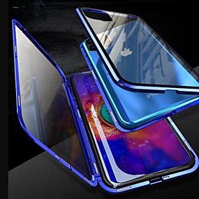 رخيصةأون الحالات والأغطية-حالة مغناطيسية لآيفون 11 / آيفون 11 برو / آيفون 11 برو ماكس كوكه 360 ضعف الجانب الزجاج المقسى المعدنية fundas تغطية الحالات المغناطيس لفون xs ماكس / xr / xs / x / 8 زائد / 7 زائد / 6 ثانية زائد
