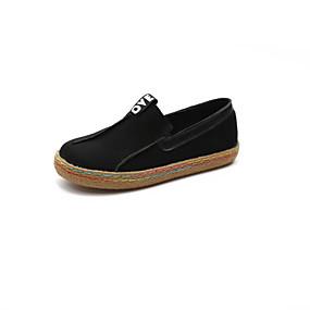voordelige Damesinstappers & loafers-Dames Loafers & Slip-Ons Platte hak Ronde Teen Microvezel Lente & Herfst Zwart / Donker Bruin / Groen