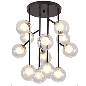povoljno Lámpatestek-Cirkularno / Svijeća stilu / Klastera Flush Svjetla Ambient Light Slikano završi Metal Glass Mini Style, WIFI kontrolu 110-120V / 220-240V Meleg fehér / Bijela / Wi-Fi Smart