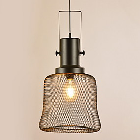 povoljno Lámpatestek-Glob Privjesak Svjetla Downlight Crn Metal Divan 220-240V