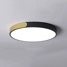 رخيصةأون تركيبات الإضاءة-حداثة أضواء على السقف طلاء ملون معدن تصميم جديد 110-120V / 220-240V أبيض دافئ / أبيض / ديمابل مع جهاز التحكم عن بعد