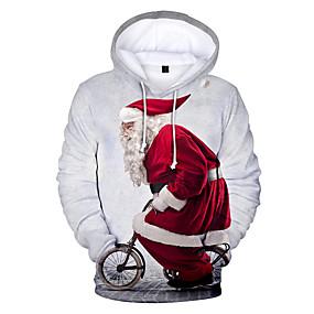 preiswerte Sweatshirts-Damen Übergrössen Freizeit / Weihnachten Kapuzenshirt Druck / 3D / Zeichen