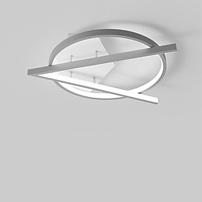 cheap Dimmable Ceiling Lights-1-Light 36 cm Flush Mount Lights Metal Linear Painted Finishes Contemporary LED 110-120V 220-240V