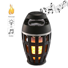 cheap LED Camping Lights-1pcs Flame Atmosphere Lamp Light Outdoor Lights Bluetooth Speaker Portable Wireless Stereo Speaker With Music Bulb Outdoor Camping