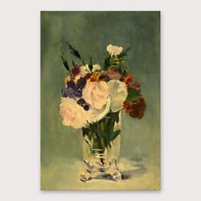 povoljno Nova kolekcija-Hang oslikana uljanim bojama Ručno oslikana - Sažetak Cvjetni / Botanički Moderna Uključi Unutarnji okvir