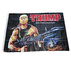 preiswerte Zubehöre für Halloween Party-150x90cm Trumpf 2020 Flagge doppelseitig bedruckte Trumpf Flagge halten Amerika groß für Präsidenten USA