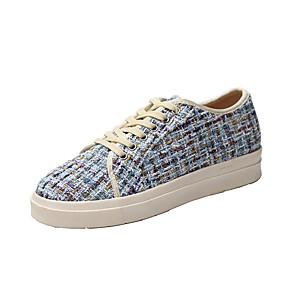 voordelige Damessneakers-Dames Sneakers Naaldhak Ronde Teen PU Herfst Zwart / Blauw / Beige