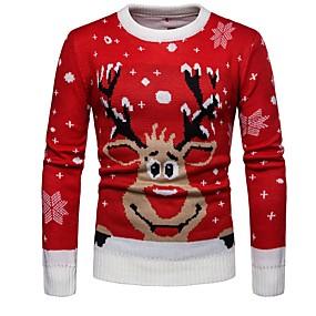 preiswerte Pullover-Herrn Tier Langarm Pullover Pullover Jumper, Rundhalsausschnitt Rote US36 / UK36 / EU44 / US38 / UK38 / EU46 / US40 / UK40 / EU48