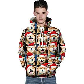 preiswerte Sweatshirts-Herrn Freizeit Kapuzenshirt Geometrisch
