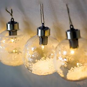 preiswerte Dekorative Beleuchtung-0,3 m Leuchtgirlanden 1 LEDs Warmes Weiß Weihnachten Dekorativ 5 V 1pc