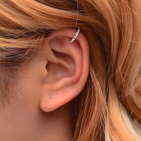 preiswerte Schmuck & Armbanduhren-Damen Ohr-Stulpen Briolette Kreuz Ohrringe Schmuck Gold / Silber Für Festival