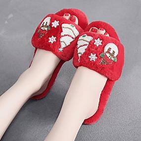 preiswerte Textilien für Zuhause-Damenhausschuhe Pantoffel Freizeit Kunstpelz Schuhe