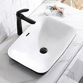 preiswerte Waschschalen und Aufsatz-Waschbecken-Waschbecken für Badezimmer Moderne - Gals Rechteckig Vessel Sink