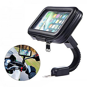 cheap Motorcycle Luggage & Bags-Motorcycle Telephone Holder Support Moto Bicycle Rear View Mirror Stand Mount Waterproof Scooter Motorbike Phone Bag for Samsung
