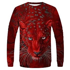 preiswerte Neue im Sortiment-Herrn Solide / Tier - Street Schick / Übertrieben T-shirt Rote
