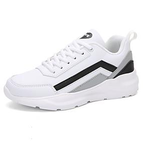voordelige Damessneakers-Dames Sneakers Platte hak Ronde Teen PU Informeel / Zoet Hardlopen / Wandelen Lente zomer / Herfst winter Zwart / Rood / Wit / Blauw / Grijs