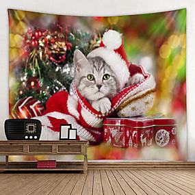 cheap Christmas Wall Decor-Christmas / Classic Theme Wall Decor 100% Polyester Classic / Modern Wall Art, Wall Tapestries Decoration