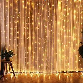 cheap LED String Lights-1pcs 3*3m Led Icicle Led Curtain Fairy StringLlight Fairy Light 300 led Christmas Light for Wedding Home Window Party Decor